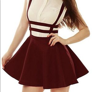 COCO Suspender Cage Skirt Burgundy Small
